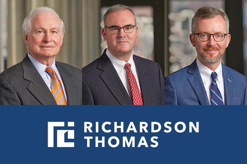 Richardson Thomas team helps secure $99 million settlement